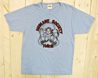 Vintage 1980's YUKON HUMANE SOCIETY T-Shirt / Retro Collectable Rare