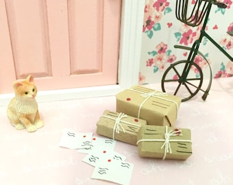 Gift Parcels for Fairy Door, Tooth Fairy Door, Magical Fairy Door, Fairy Garden, Dollhouse Miniature Parcels Fairy Door Kit, Ann Arbor Door