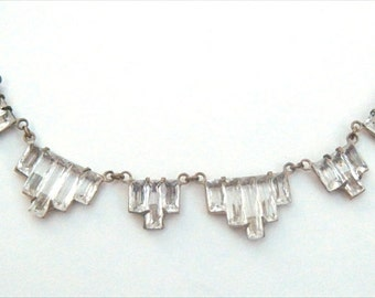 Vintage Stepped Vauxhall Necklace