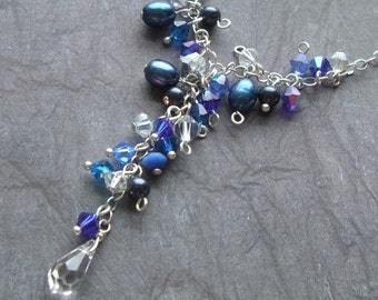 Dewdrops in BLUE necklace