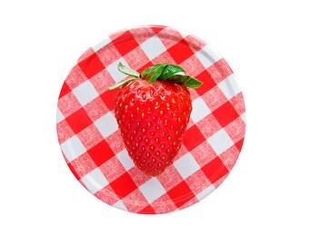 Strawberry Photograph Fine Art Print, Kitchen Decor, Food Art Gift, Garden, Jam Jar, Art Print, Still Life Photo, Minimalist Art