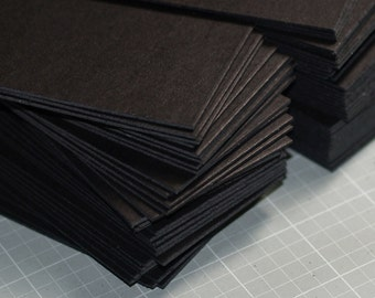 Business calling cards etsy black business card blanks 50 heavyweight chipboard thick 2 x colourmoves