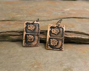 EBX07-05: Cell Cycles, Telophase, Mitosis, #SciArt, Microbiology, Science Gift, Cell Division, Science earrings, DNA, Science jewelry