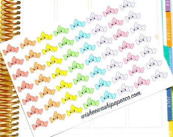 Weight Stickers - Workout Stickers - Exercise Stickers - Kawaii Stickers - Kawaii Weights - Planner Stickers