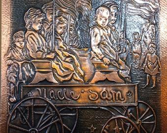 Wall Art - Uncle Sam Copper