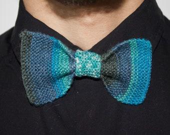 Gradient blue bowtie