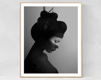 Scandinavian wall art, scandinavian decor, scandinavian design, scandinavian poster, instant download, wall decor, wall art, geisha