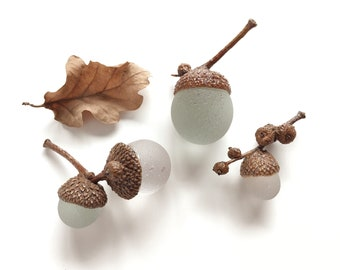 Seaglass Acorns Set