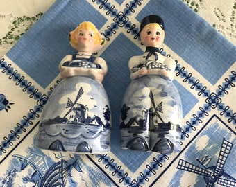 Little Dutch Girl and Boy Salt and Pepper Shakers