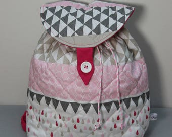 Backpack grey and Pink for little travelers.