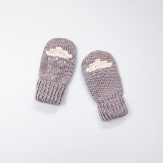 Baby And Toddler Mittens Knitting Pattern Rain Cloud Mittens