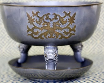 Pewter Bowl and Plate by CRDO Hong Kong