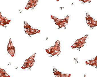 Day 5 Print: Chooks!