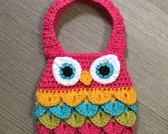 Owl Purse Crochet Pattern/ Owl Crochet Pattern/ Crochet Pattern Owl Purse/ Crochet Pattern Owl/ Kids Purse Pattern/ Owl Handbag Pattern