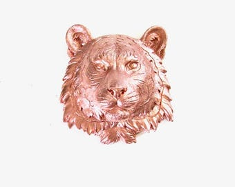 LITE BRONZ,E Small Faux Taxidermy Tiger, Animal Head wall mount, Safari wall hanging, Safari Animal Head, Mini Animal Head, Tiger Head, Gift