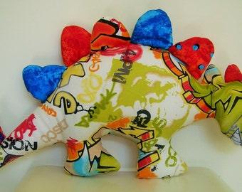 Stegosaurus dinosaur cushion or soft toy