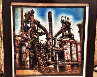 Original Framed Photograph of Bethlehem Steel