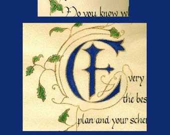 Illuminated Calligraphed Success Book
