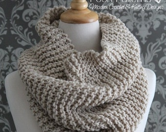 Knitting PATTERN - Knit Cowl Pattern - Cowl Knitting Pattern - Infinity Scarf Pattern - Easy Knitting Pattern - Knitting Patterns - PDF 428