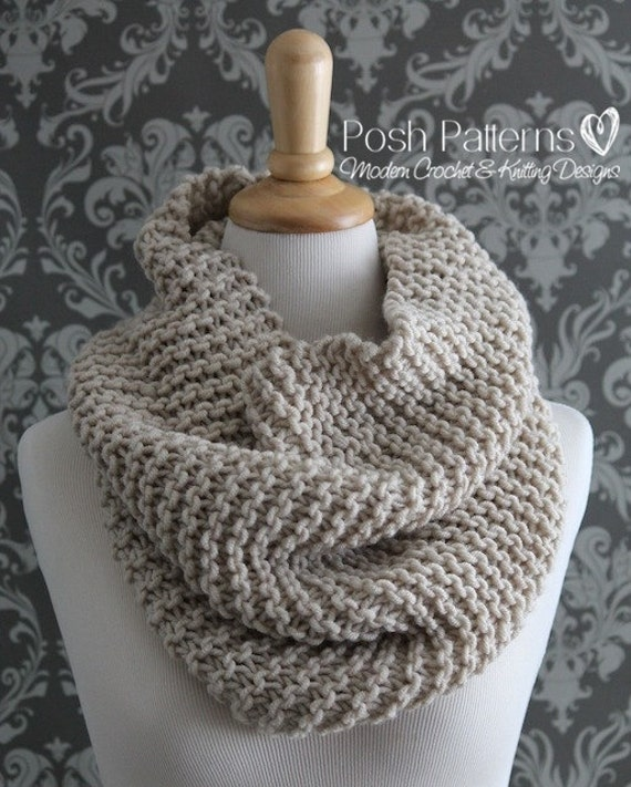 Knitting PATTERN - Knit Cowl Pattern - Cowl Knitting Pattern ...