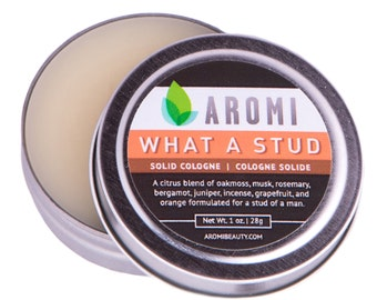 What a Stud Solid Cologne.  Men's Gift.  Solid Fragrance.  Funny Men's Gift.  Men's Fragrance. Fathers day gift. Dad gift.  Gift for dad.
