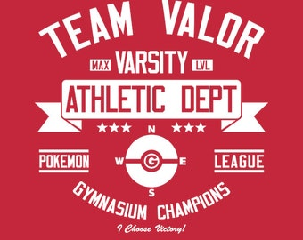 Team Valor Athletics Dept. - Men's Unisex T-Shirt - AR Pokemon Gaming Parody Clothing