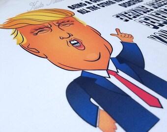 Funny Fathers Day, Fathers Day, Fathers Day Gift, Trump Father's Day T-Shirt, Funny Trump Shirt, Funny T-Shirt.