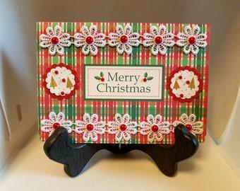 "Merry Christmas Greeting Card - Christmas Waves a Magic Wand... - 5 3/4"" x 4 1/8"""