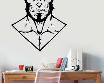 Hellboy Vinyl Decal Wall Sticker Comics Superhero Art Decorations for Home Housewares Bedroom Playroom Kids Boys Room Movie Decor hell4