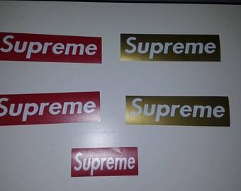 SUPREME sticker decals