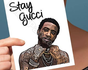 Card For Boyfriend | Gucci Mane | I Get The Bag Hip Hop Card For Him Birthdays Card Dad Boyfriend Card Card For Men Boyfriend Gift Bff Gift