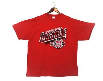 Vintage 1990s Nebraska Cornhuskers distressed 2XL t-shirt