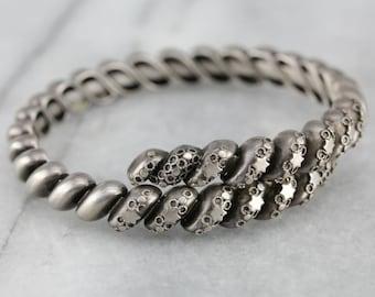 Antieke zilveren armband, armband ster, Victoriaanse armband, zilveren Manchet armband R5WQ3C4Z-R