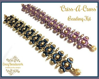 "Only Beads Kit : ""Criss-A-Cross"" Bracelet D.I.Y."