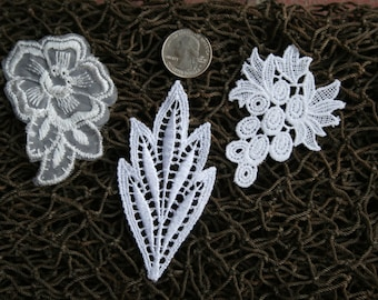 Appliques blanches