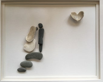 Wedding pebble art