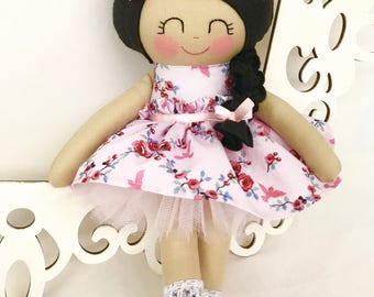 Soft baby doll, Rag doll- Pink Cloth Doll