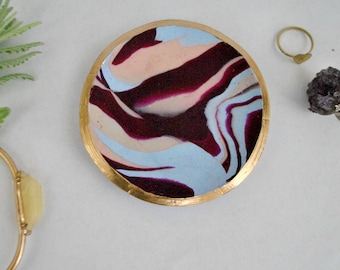 Marbled Clay Ring Dish Handmade Gift for Her  Marbled Clay Ring Holder Wedding Gift Bridesmaid Gift Trinket Dish Home Decor Birthday Gift