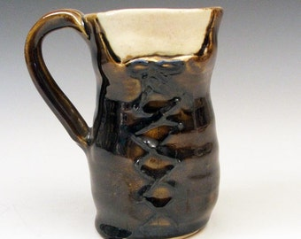 Bodice Mug: Serving Wench in Rich Amber Brown