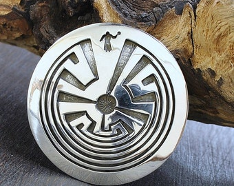 Amazing Rick Manuel Sterling Silver Woman In The Maze Pendant