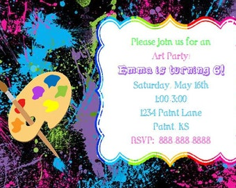 Painting, Art Birthday Invitation
