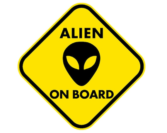 Alien on Board Birthday - Edible Cake and Cupcake Topper For Birthdays and Parties! - D24024