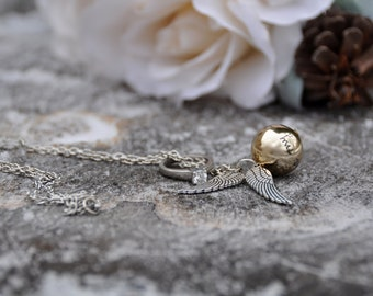 Harry potter gift hogwarts harry potter party harry potter necklace anniversary gift birthday gold ball necklace ring holder ring box