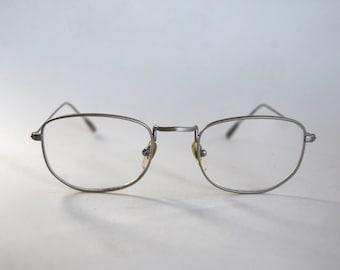 Vintage Glasses Frame, Silver, Metal