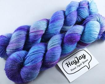 Hand Dyed Sparkle Sock Yarn - Mermaid