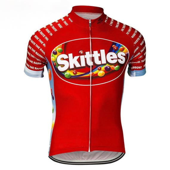 Nerds Candy Cycling Jersey Cartoon Unisex Medium Short Sleeve Full Zipper NWT 3lLLcHw1qj
