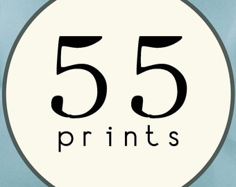 55 PRINTS - SINGLE SIDED Printed Invitations Cards - 86440897