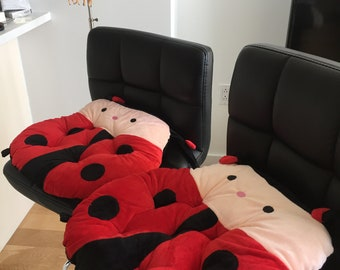Ladybug Seat Cushion (Chair Pad / Chair Cushion) Animal
