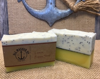 Lemon Poppy Seed - Handmade Soap - Vegan - Homemade Soap - All Natural