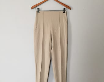Piazza Sempione skinny stratch pants | wool high waisted pants | new old stock with tag